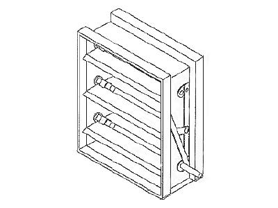 Control Damper Galvanized Steel, Low Leakage AC10 Parallel Blade AC20 Opposed Blade
