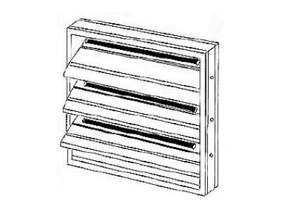Backdraft Damper Aluminum Backdraft Damper