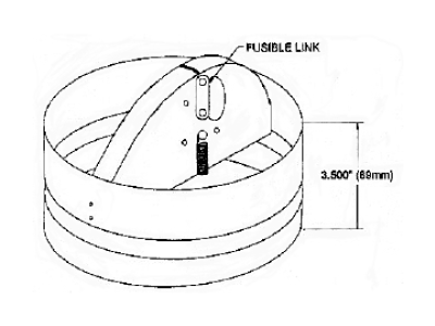 Round Ceiling Radiation Fire Dampers