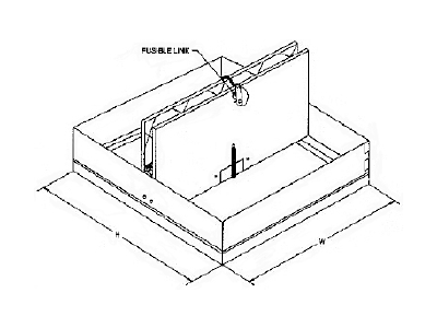 Square Ceiling Radiation Fire Dampers