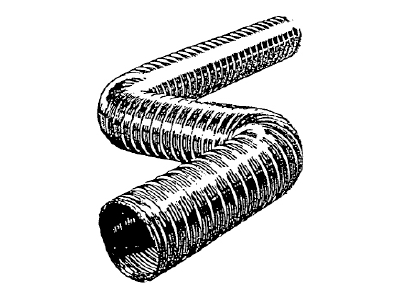 Aluminum Flex Plain - 25' Lengths