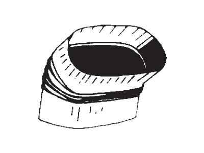 Oval Shortway Elbow 45º