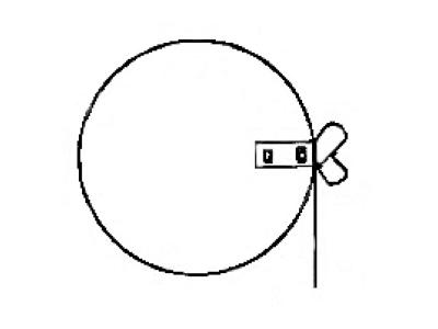 Round Damper Single Bearing