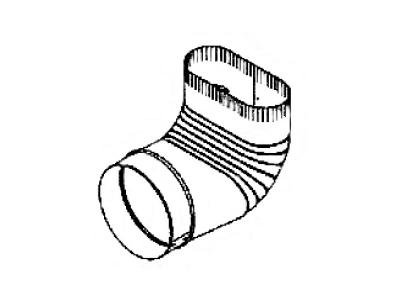 Round to Oval Elbow No Crimp